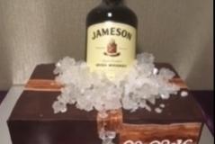 Whiskey Grooms cake