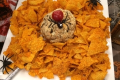 Halloween Cheddar Cheese ball