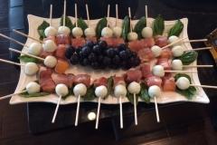 Watermelon-blackberry-Feta kabobs