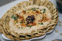 Hummus with warm Pita triangles
