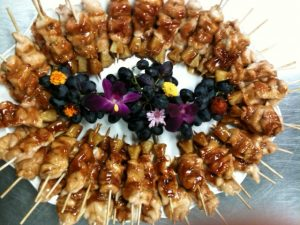Chicken Teriyaki skewers